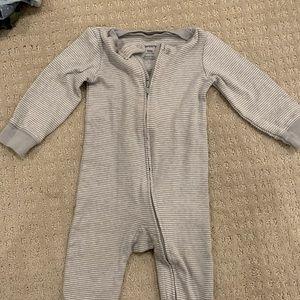 Footie one piece pajamas, barely worn